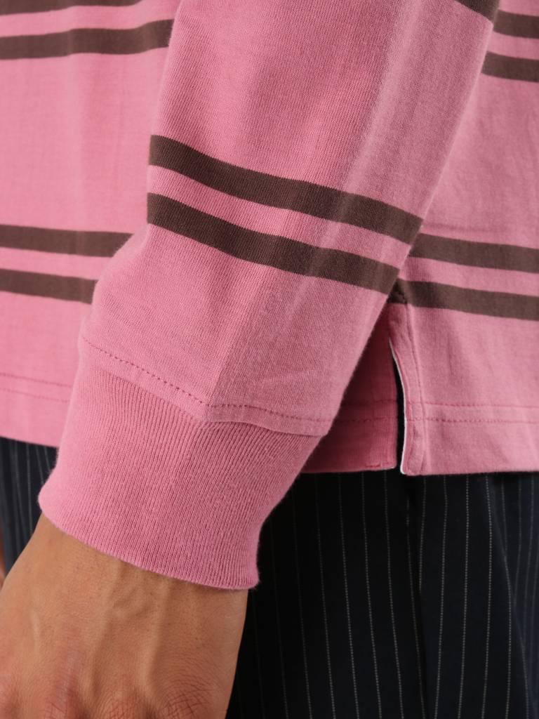 Stussy Stussy Desmond Stripe Longsleeve Rugby Pink 0604