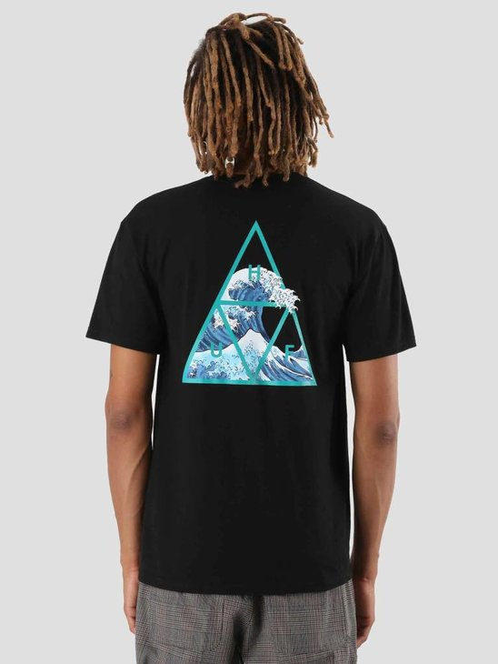 HUF High Tide Triangle T-Shirt Black TS00370
