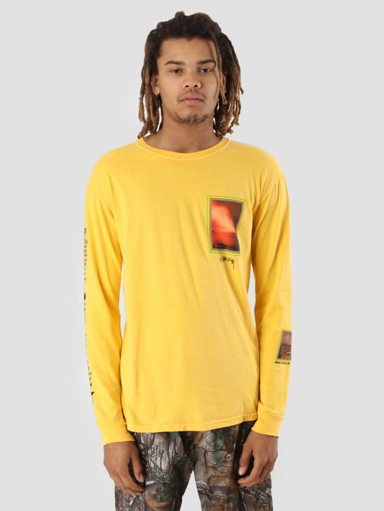 Stussy Inferno Pig. Dyed Longsleeve Gold 0205