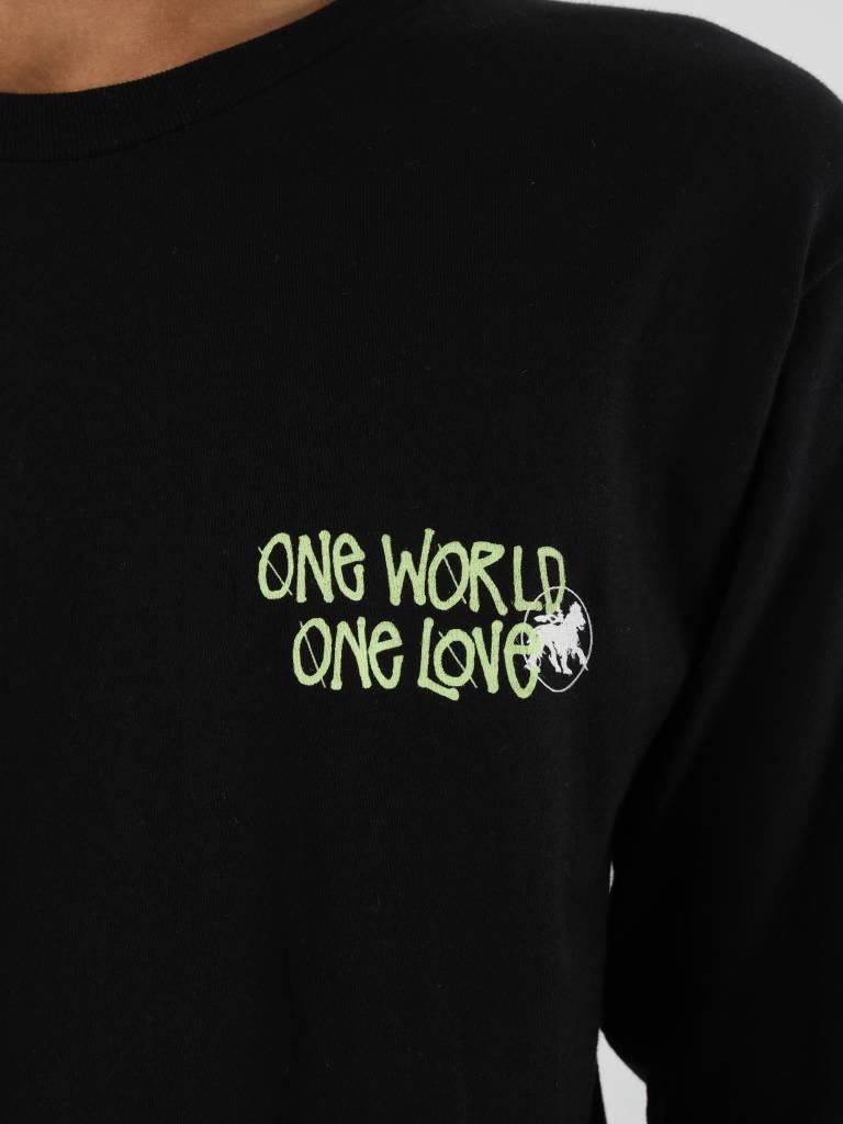 Stussy Stussy One World Longsleeve Black 0001