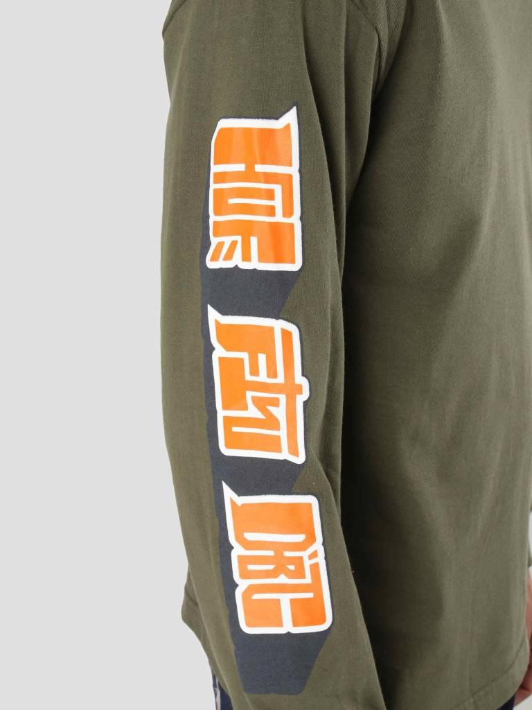 HUF HUF Super Karate Longsleeve Deep Olive TS00374