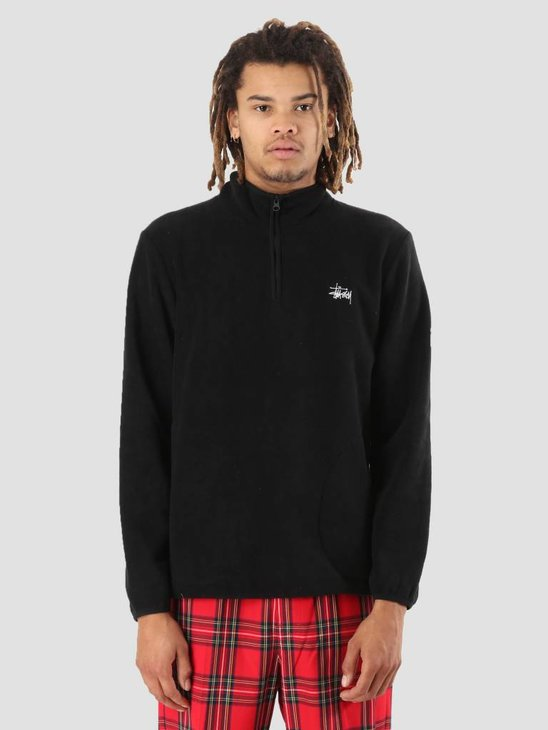 Stussy Polar Fleece Half Zip Black 0001