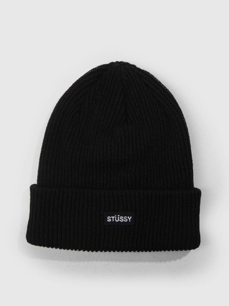 Stussy Stussy Small Patch Watchcap Beanie Black 0001