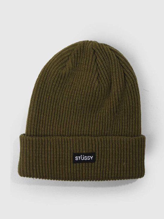 Stussy Small Patch Watchcap Beanie Green 0401