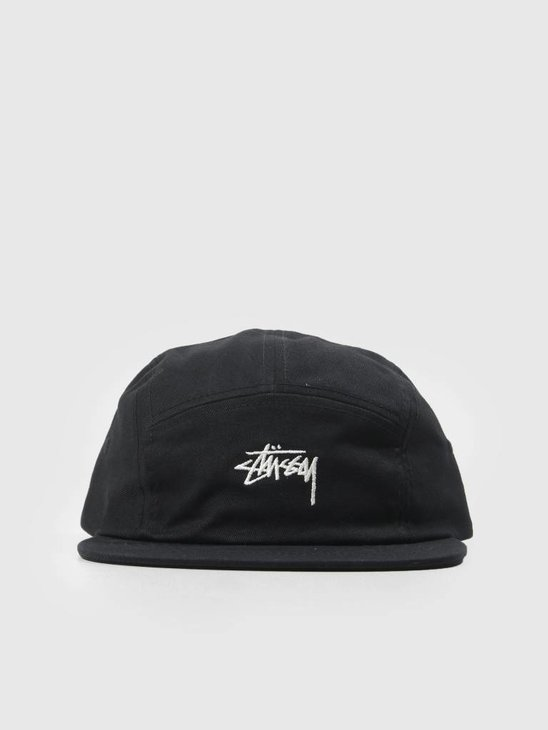 Stussy Stock Camp Cap Black 0001