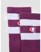 Champion Champion 1PP Tube Socks Crew Length Purple GJU WHT VS029 804471
