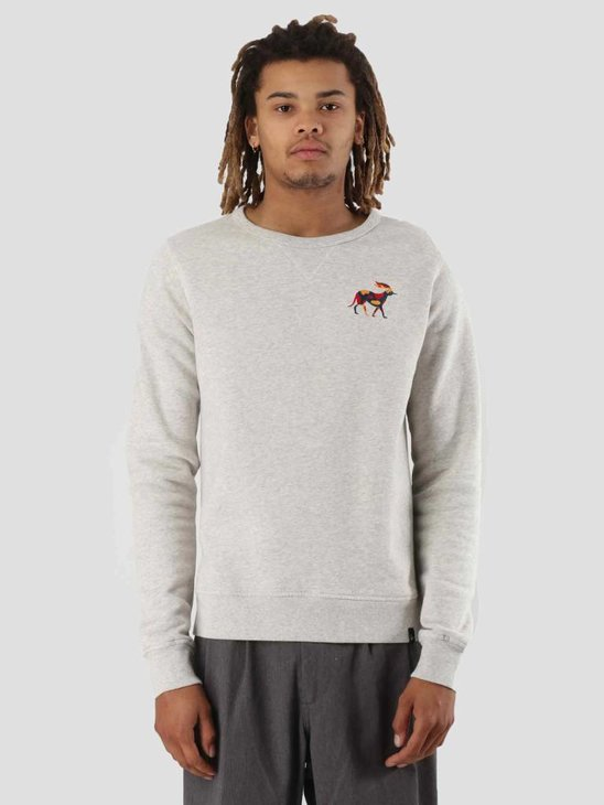 By Parra Retired Racer Crew Neck Sweater Oatmeal 41870
