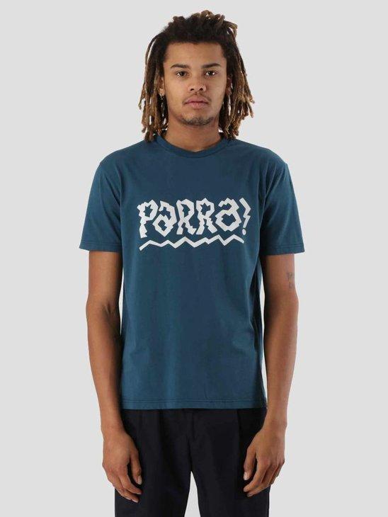 By Parra Cut Out Logo T-Shirt Deep Water Blue 41840