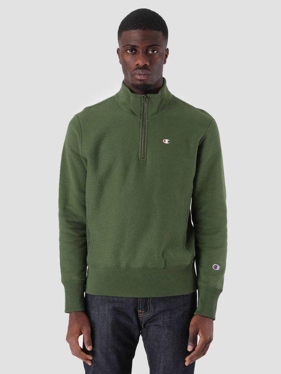 Champion Half Zip Sweatshirt Dark Green BAF GS536 212369