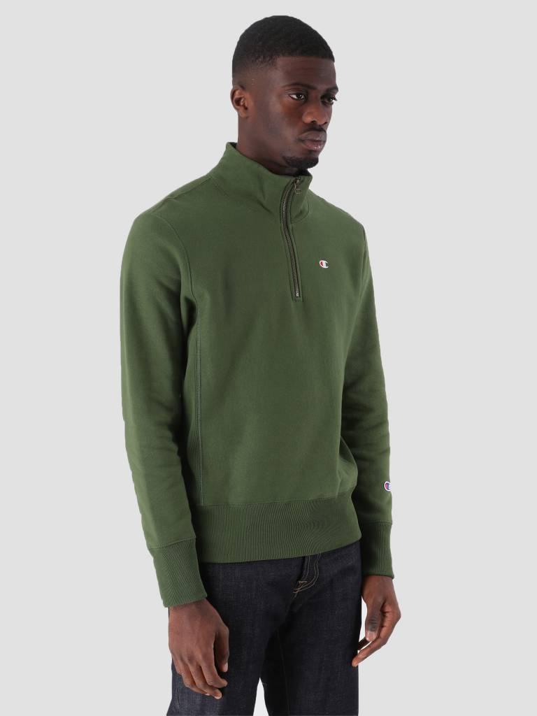 Champion Champion Half Zip Sweatshirt Dark Green BAF GS536 212369