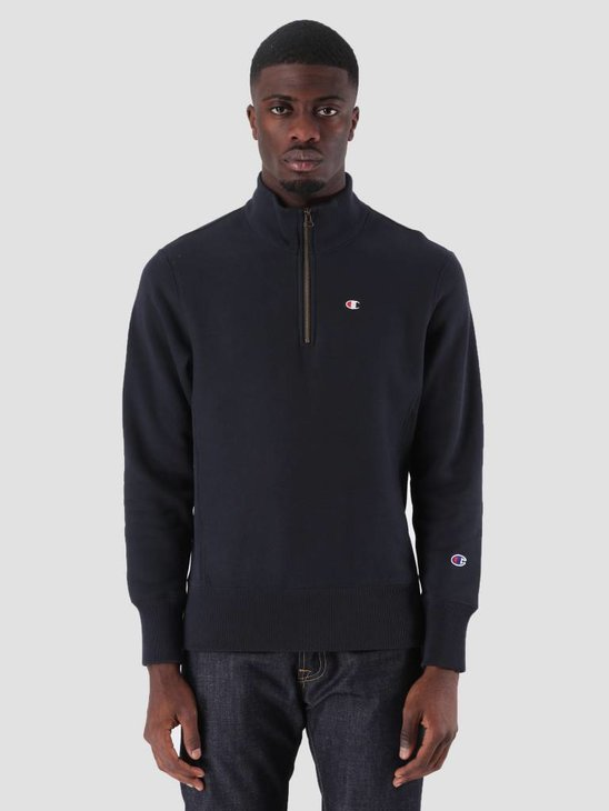 Champion Half Zip Sweatshirt Dark Navy NNY BS501 212369