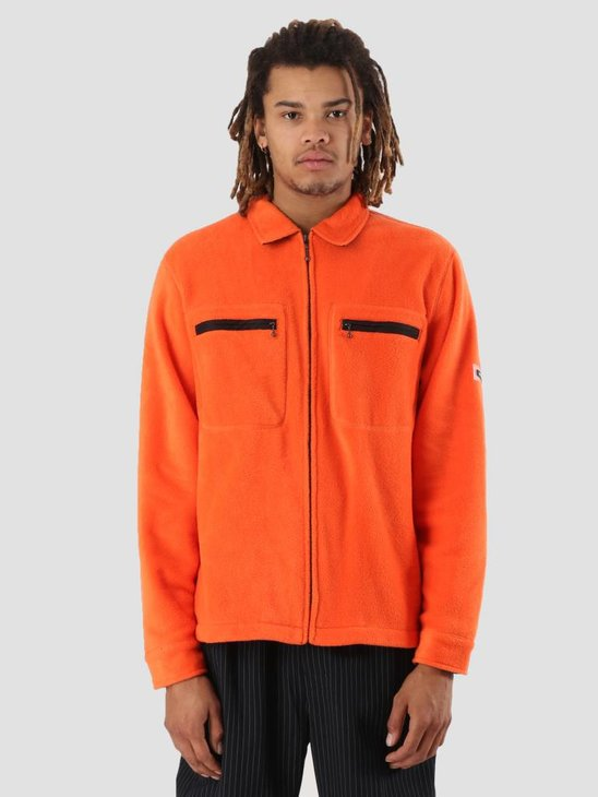 Stussy Polar Fleece Full Zip Orange 0602