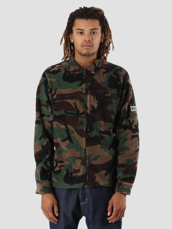 Stussy Polar Fleece Full Zip Camo 1431