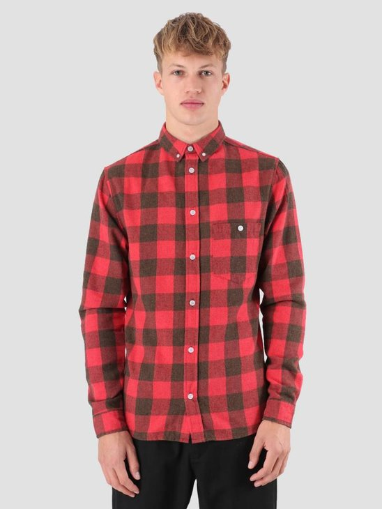 RVLT Dirch Shirt Red 3638