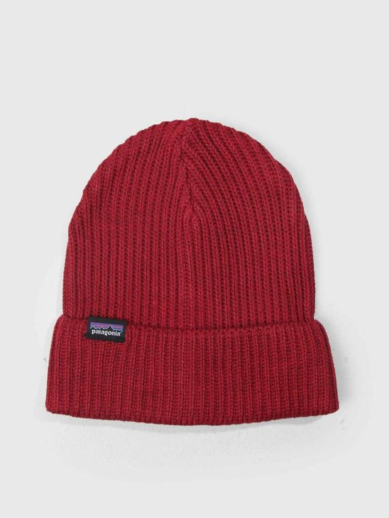 Patagonia Fishermans Rolled Beanie Oxide Red 29105
