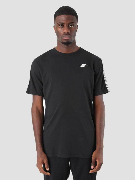 Nike NSW Repeat T-Shirt Black  White Ar4915-010