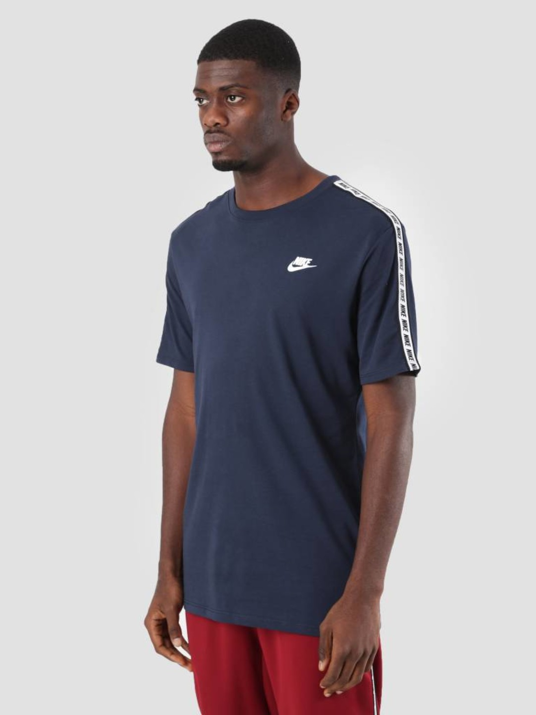 Nike Nike NSW Repeat T-Shirt Obsidian White Ar4915-451