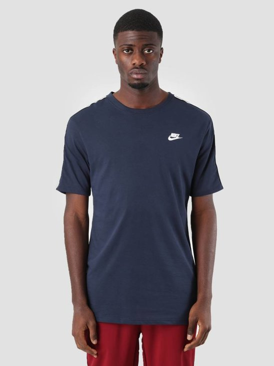 Nike NSW Repeat T-Shirt Obsidian White Ar4915-451