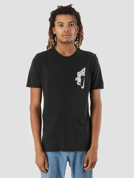 Nike SB T-Shirt Black White Aa8072-010