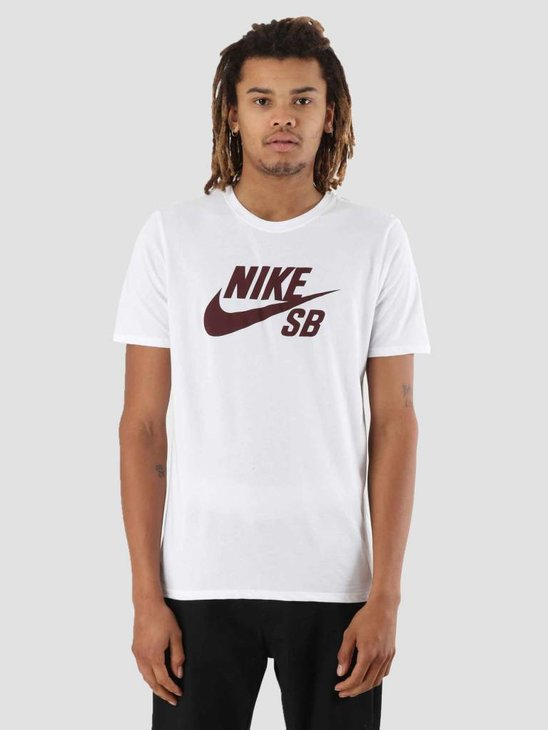 Nike SB T-Shirt White White Burgundy Crush 821946-105