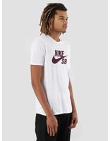 Nike Nike SB T-Shirt White White Burgundy Crush 821946-105