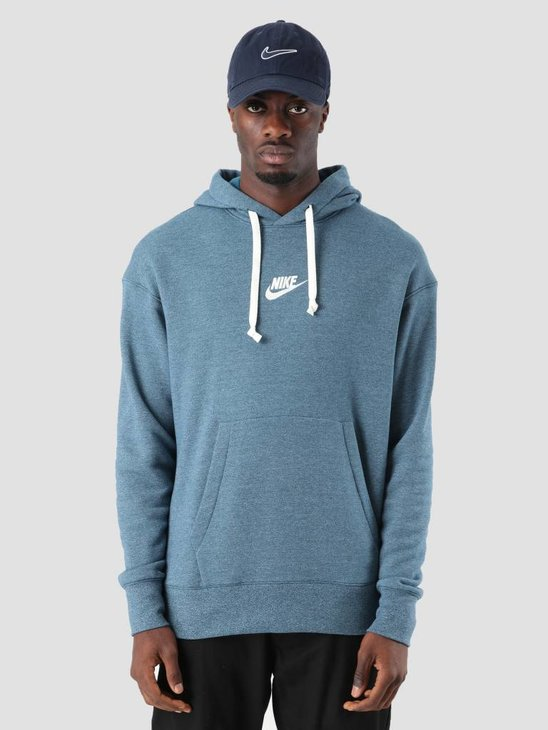 Nike NSW Heritage Hoodie Blue Force Htr Sail 928437-474