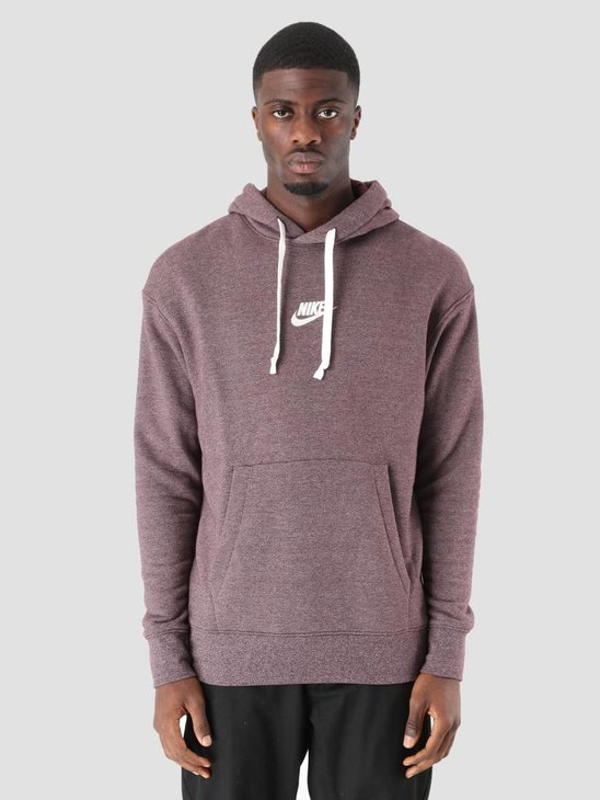 Nike NSW Heritage Hoodie Burgundy Crush Htr Sail 928437-652