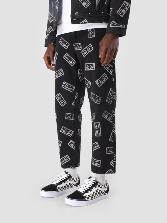 Obey Bender Eyes Denim Pant Eyes Black Multi 142010064