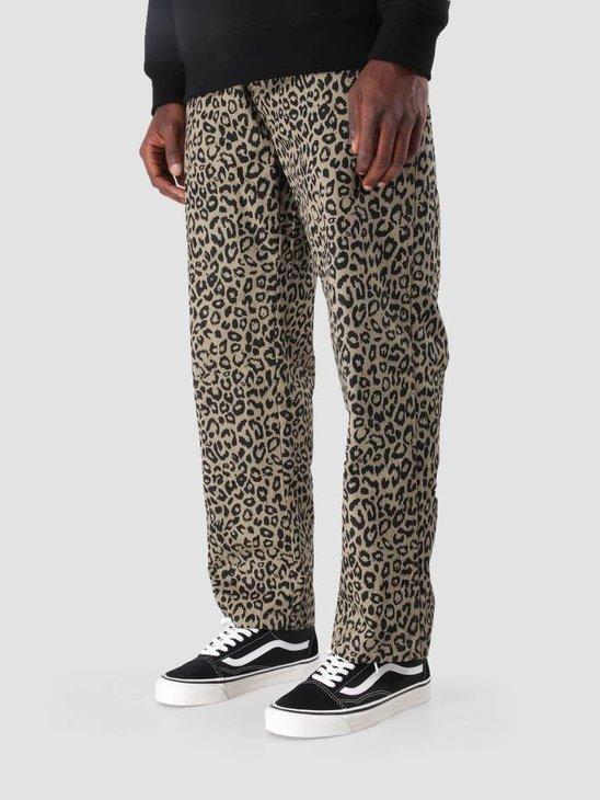 Obey Hardwork Labor Pant Khaki Leopard 142020121