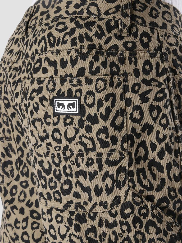 Obey Obey Hardwork Labor Pant Khaki Leopard 142020121