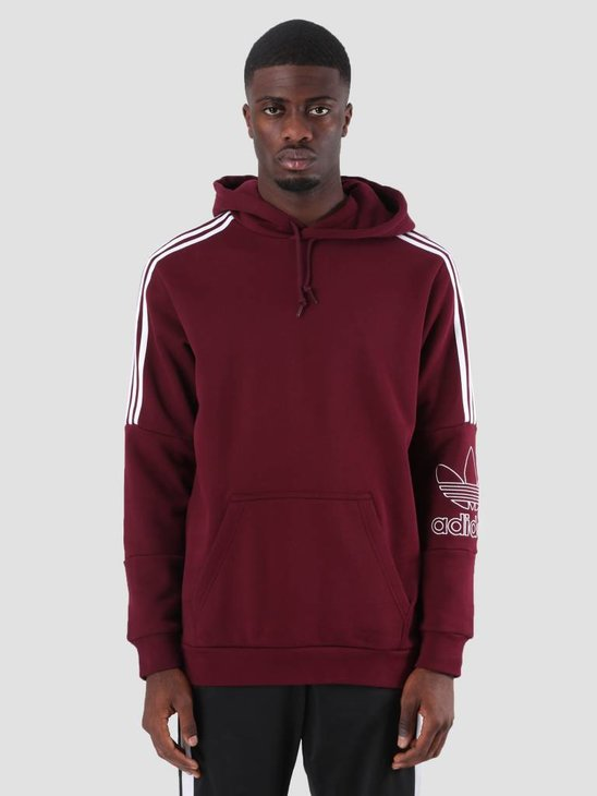 adidas Outline Hoody Maroon DH5782