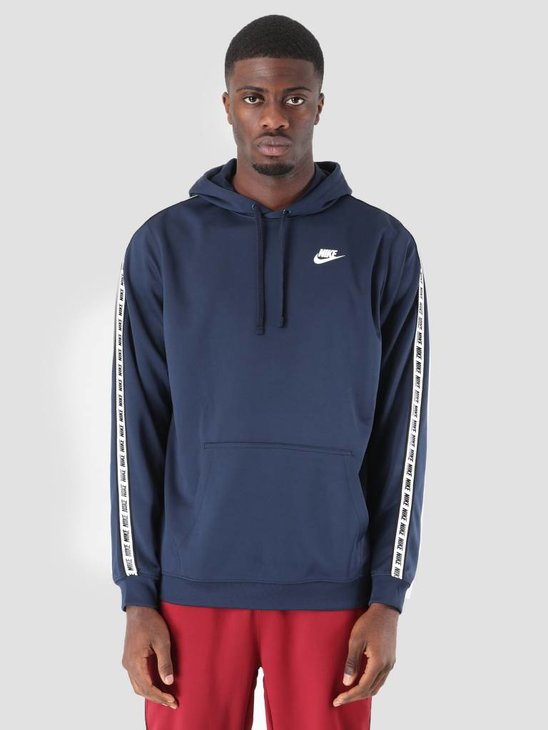 Nike Repeat Po Hood Poly Obsidian White AR4914-451