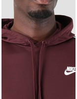 Nike Nike NSW Repeat Hoodie Poly Burgundy Crush  White Ar4914-652
