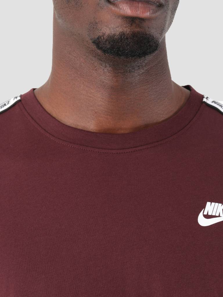 Nike Nike NSW Repeat T-Shirt Burgundy Crush White Ar4915-652