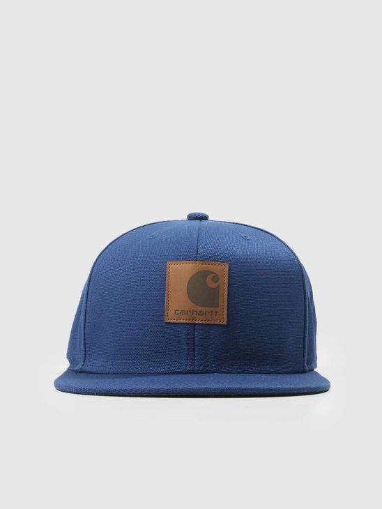 Carhartt Logo Cap Metro Blue I023099-S000