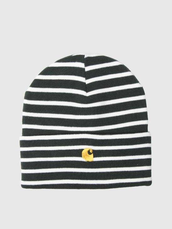 Carhartt Robie Beanie Robie Stripe Loden Snow Quince I021800-O1K90