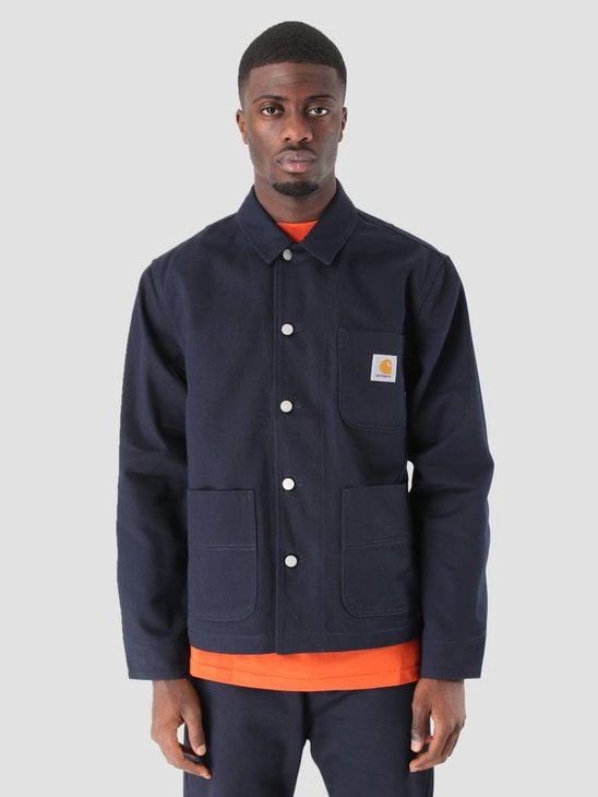 Carhartt Chalk Jacket Rigid Dark Navy I025936-1C01