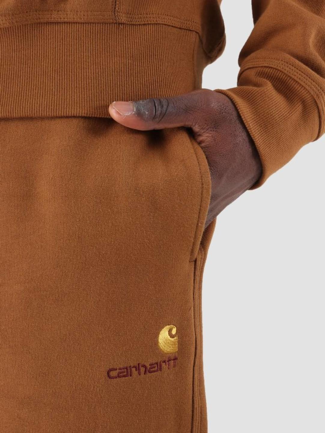 Carhartt WIP Carhartt WIP American Script Sweat Pant Hamilton Brown I025476