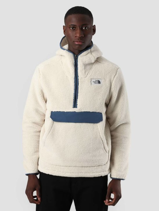 The North Face Campshire Pull Over Hoodie Vintage White Shady Blue