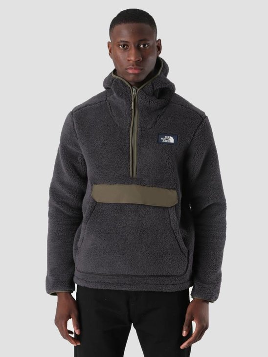 The North Face M Campshire Pull Over Hoodie Weatherd Black New Taupe Green