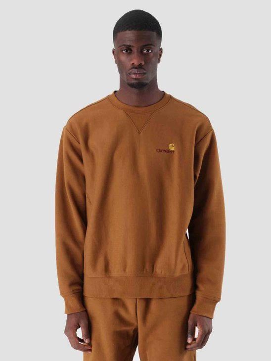 Carhartt American Script Sweat Hamilton Brown I025475-HZ00