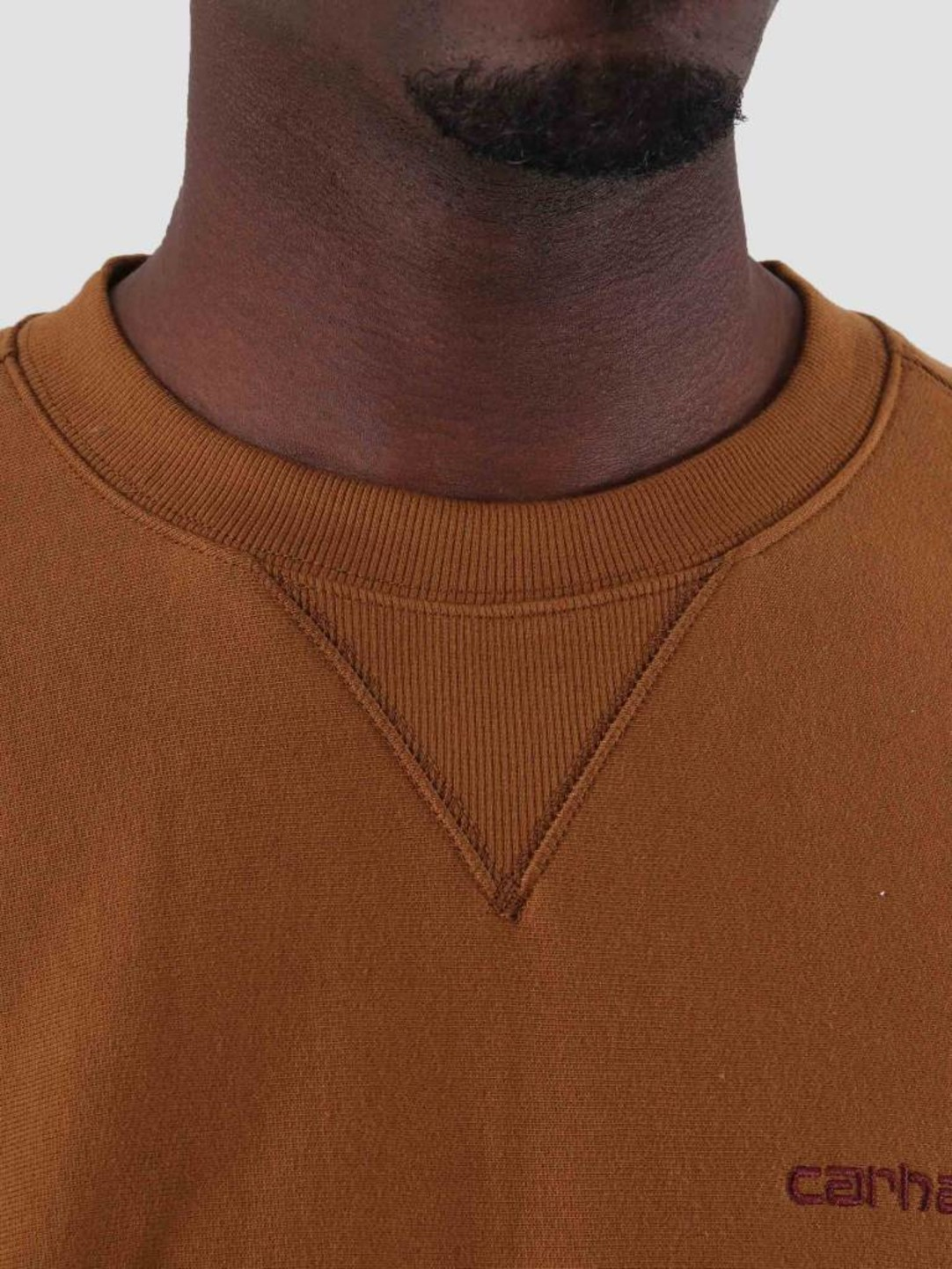 Carhartt WIP Carhartt WIP American Script Sweat Hamilton Brown I025475-HZ00