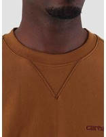 Carhartt Carhartt American Script Sweat Hamilton Brown I025475-HZ00