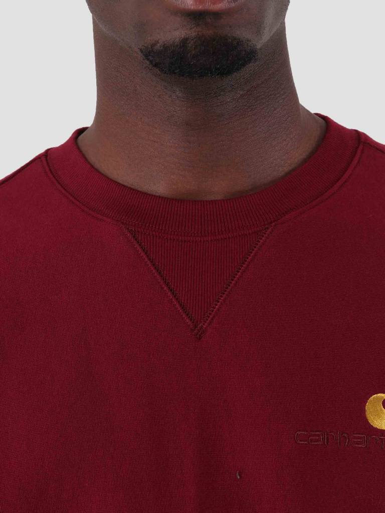 Carhartt Carhartt American Script Sweat Mulberry I025475-88400