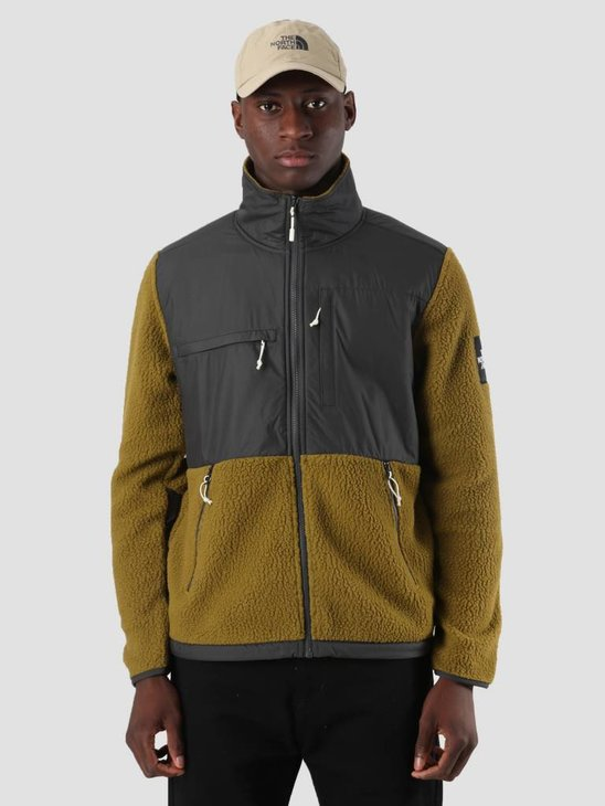 The North Face Denali Fleece Asphalt Grey Fir Green