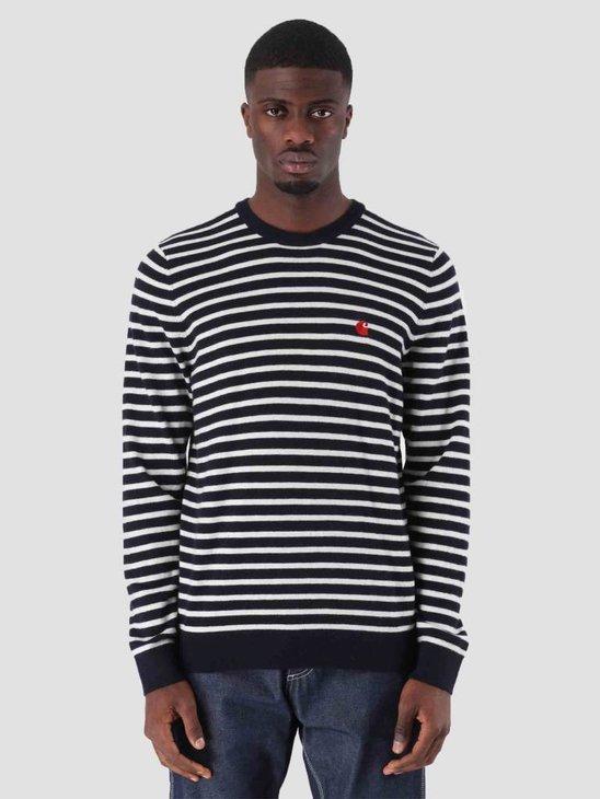 Carhartt Robie Sweater Dark Navy Snow I025740-1C90