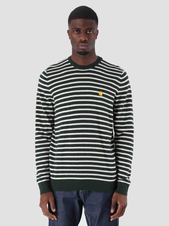 Carhartt WIP Robie Sweater Loden Snow I025740-88590