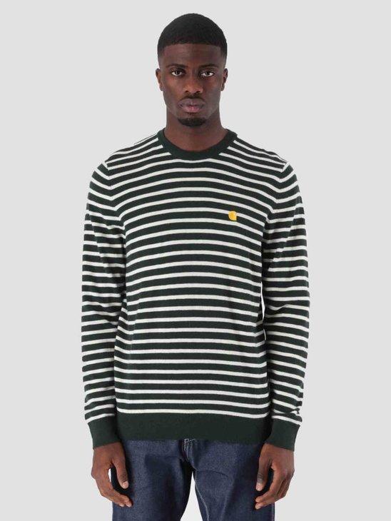 Carhartt WIP Robie Sweater Loden Snow I025740-88590