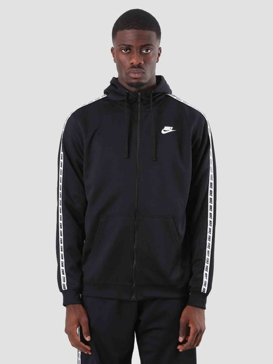 Nike Repeat Fz Hood Poly Black White AR4911-010