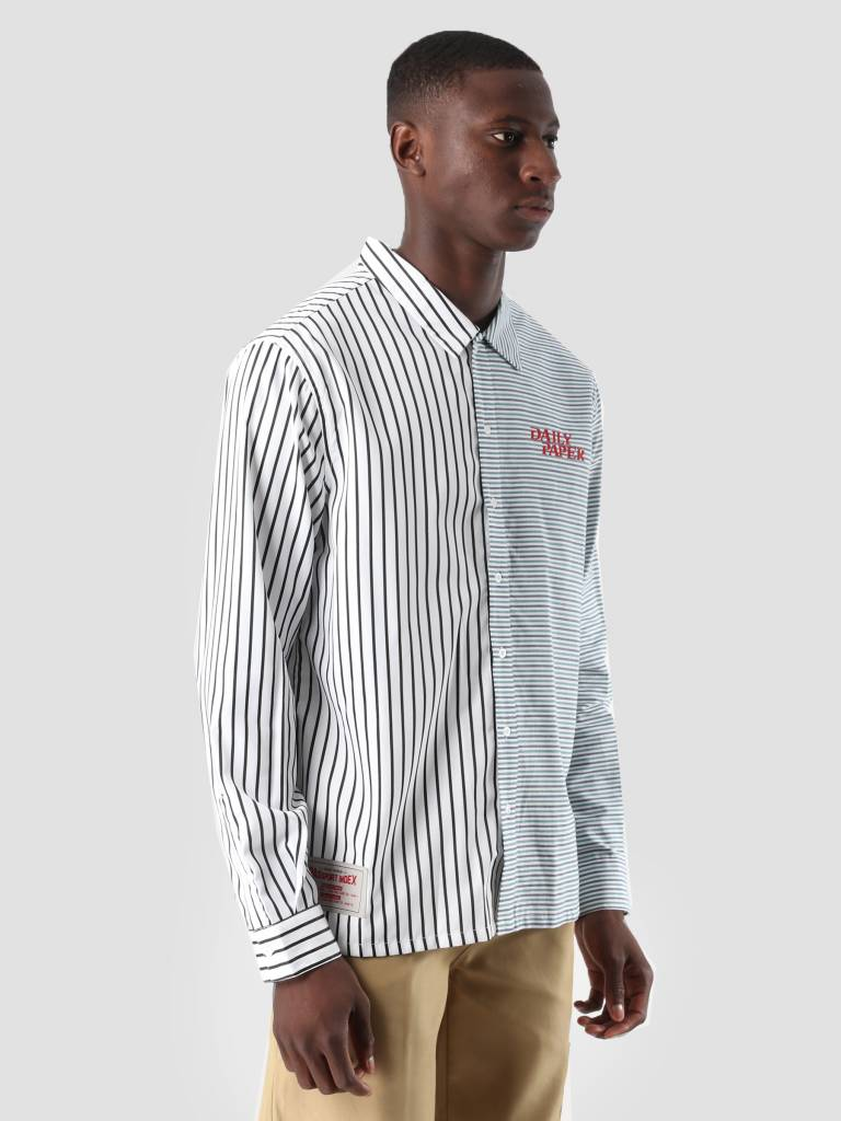Daily Paper Daily Paper Disi Shirt Black White Stripe Black Grey Wihit Blue Check 18F1SH07